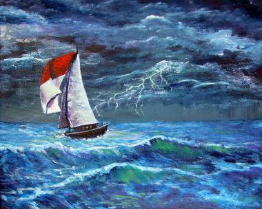 sailing-in-a-storm-frank-botello